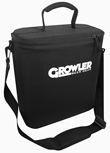 Growler Gear - Double Insulated Beer Growler Cooler Bag and Carry Case, Double Bottle, Black (Cool Beer Growler compare prices)