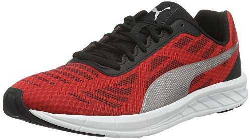 PumaMeteor - Scarpe Running Uomo , Rosso (Rot (high risk red-puma Silver-puma Black 01)), 43 EU