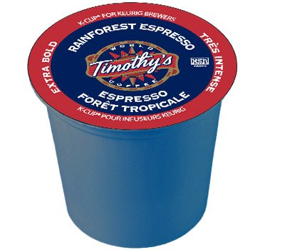 Timothy's World Coffee Rainforest Espresso for Keurig Brewers 24 K-Cups (3 Pack)