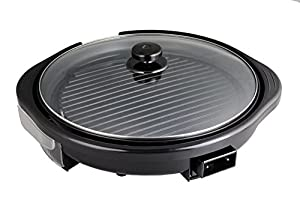 Beida 14-Inch 1200W Indoor Electric Grill with non-stick coating inner pan, temperature control,Oil tray