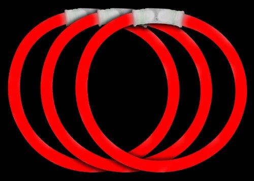 Fun Central P74 8 Inch Glow Stick Bracelets Red Glowsticks – 50 Count