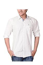 Anry Mens Cotton Shirt Casual Shirt (Wht410042 _White _42)