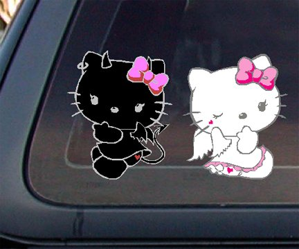 Hello Kitty Angel & Devil Car Decal / Sticker