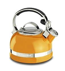KitchenAid KTEN20SBDO 1.9-Litre Kettle with Handle and Trim Band (Mandarin Orange)