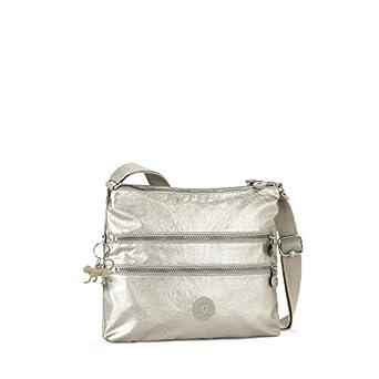 Kipling Alvar Handbag Shoulder Bag Silver Beige: Amazon.co ...