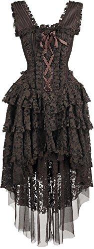 Burleska Ophelie Dress Abito lungo marrone M