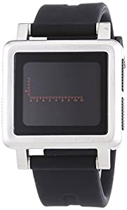 Nixon Men's Housing A157000 Black Rubber Quartz Watch with Digital Dial