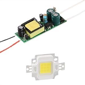 LAMPADA LED BIANCO 880LM 10W + ALIMENTAZIONE AC 85265V   recensioni dei clienti