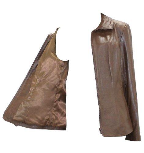 New Brown Keks Butter-Soft Lamb Leather Jacket-L
