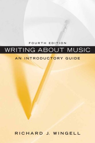 Writing About Music: An Introductory Guide (4th Edition)