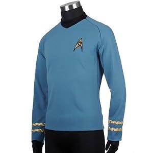 Star Trek Original Series Spock High Quality Replica Uniform, Large
