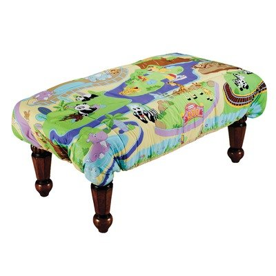 ABC Fun Pads Safety Table Cover, Zoo, Large