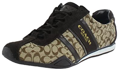 Coach Women's Remonna Sneaker, Khaki/Chestnut, 6M