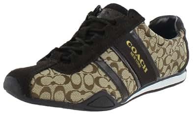 Coach Remonna Sneaker in Khaki & Chestnut, Size 7 M