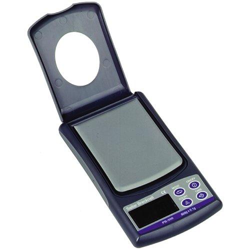"Salter Brecknell Pb-500 Pocket Balance Lcd Display, 3"" Length X 2-51/128"" Width Pan, 500G Capacity"