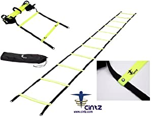 Cintz Fixed Rungs Speed Agility Ladder, 15-Feet