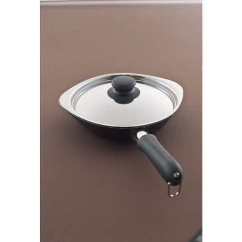 nobrand YANAGI, iron frying pan 18 cm lid with kitchen / pot / Pan (312211)