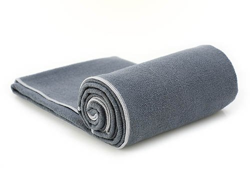 YogaRat Charc-Ash 100% Microfiber Yoga Towels - Available separately in two sizes: Mat Length (24
