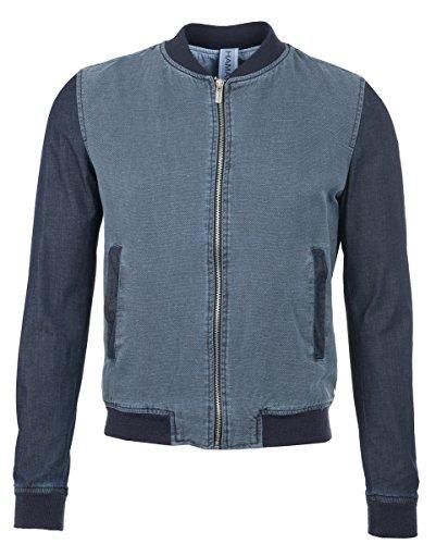 Hamaki-HO Bomber giacca da uomo con effetto blu