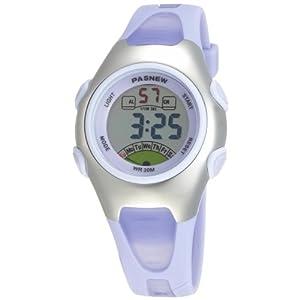 Fashion Waterproof Children Boys Girls Digital Sport Watch with Alarm, Chronograph, Date (Purple)