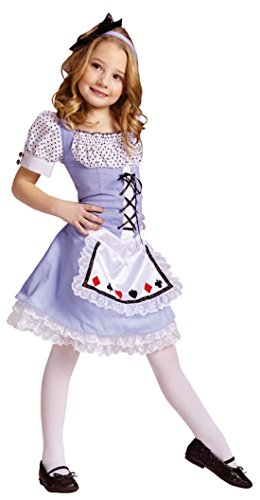 Girls Alice In Wonderland Kids Child Fancy Dress Party Halloween Costume