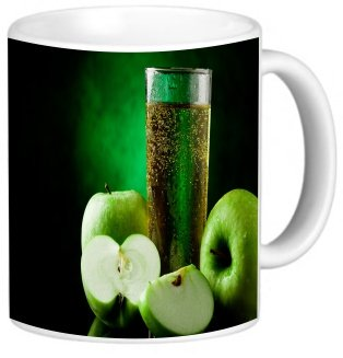Rikki Knighttm Green Apple Juice Design 11 Oz Photo Quality Ceramic Coffee Mug Cup - Fda Approved - Dishwasher And Microwave Safe