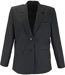 Panache Women's Slim Fit Coat (K004 _ 34, Matt Black)