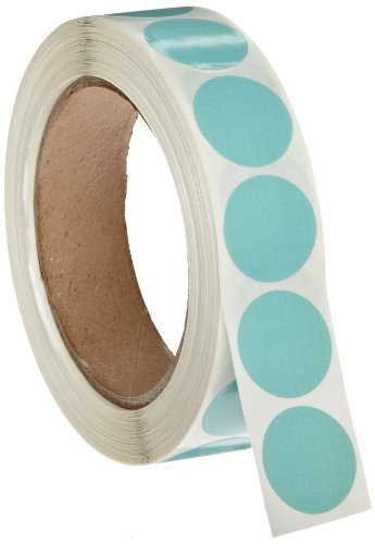 """Roll Products 119-0004 Adhesive Dot Label, 1"""" Diameter, For Inventory And Marking, Fluorescent Chartreuse (Roll Of 1000)"""