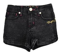 Coogi Toddler Girls Black Acid Denim Shorts (3T)