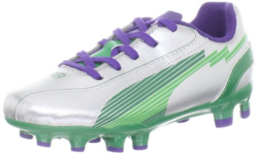 Puma Evospeed 5 FG JR Boot ,Silver/Team Green/Team VI,4.5 M