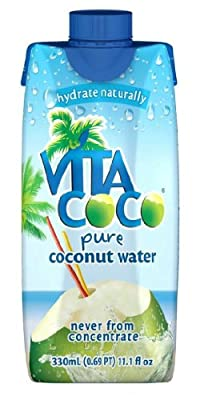 Vita Coco 100% Pure Coconut Water, 11.1-Ounce Containers (Pack of 12)