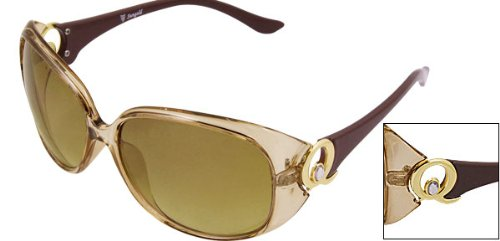 Big Brown Lens Plastic Full Frame Sunglasses