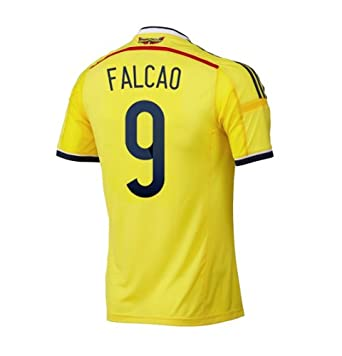 Buy Adidas FALCAO #9 Colombia Home Jersey World Cup 2014 by adidas