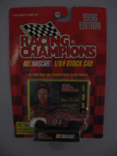 Racing Champions 1/64 scale Stock Car with collectible card 1996 Edition #94 Bill Elliott