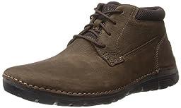 Rockport Men\'s RocSports Lite ZoneCush Plain Toe Boot Dark Brown 11 W (EE)