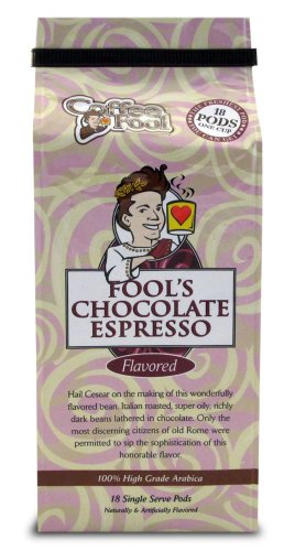 Fool'S Chocolate Espresso Pods - 18 Single Serve