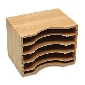 Amazon.com : Mahogany Stackable Letter File Organizer Mahogany Finish