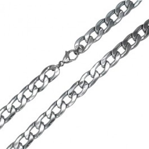 Platinum Plated Mens Cuban Link Hip Hop Necklace (5 MM Width x 30 Inch Length)