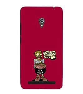 EPICCASE Zombie needs brains Mobile Back Case Cover For Asus Zenfone 5 (Designer Case)