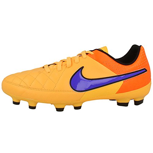 Nike JR Tiempo Genio Leather FG Kinder Fussballschuhe laser orange-persian volt-total orang- 38,5