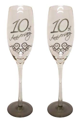 Buy traditional anniversary gifts - Boxer Gifts 10Th Anniversary Traditional Champagne Flute, Double