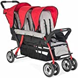 Foundations Baby Infant Carrier Trio Sport Tandem Stroller-Red