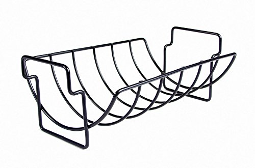 Charcoal Companion Non-Stick Reversible Roasting / Rib Rack - CC3001 (Meat Smoking Pan compare prices)