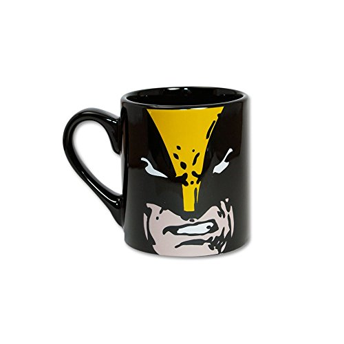 Silver Buffalo Marvel Comics Wolverine Close Up Ceramic Mug, 14 Ounces, Multicolored (Mc7332)
