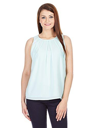 Pepe Jeans Women's Body Blouse Shirt (ISOBAL SL_Aqua_blue_Small)