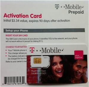 T-Mobile USA (Tmobile T Mobile) SIM Card and 