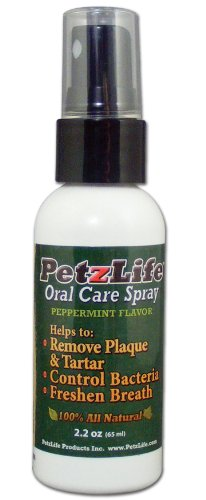 PetzLife Oral Care Spray, Peppermint, 2.2 ounces