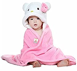 BRANDONN hello kitty fluffy and furry wrap baby blanket for babies(PINK)