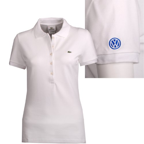 Genuine Volkswagen Ladies' Lacoste® Polo – White – Size Small