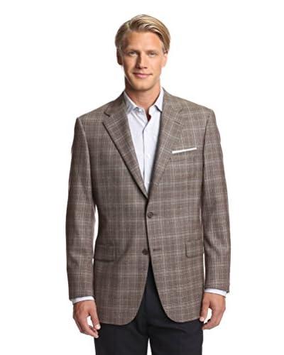 Hickey Freeman Men's Tonal Plaid Lindsey Sportcoat